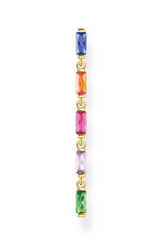 Thomas Sabo Single Earring Colourful Stones Gold TH2184MCY