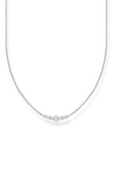 Thomas Sabo Necklace Pink Stone Silver TKE2093O