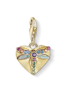 Thomas Sabo Charm Pendant Heart With Dragonfly Gold CC1810