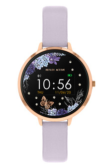 Reflex Active Series 3 Rose Gold Lilac Floral Smart Watch RA03-2074