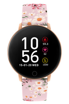 Reflex Active Series 5 Pink Floral Silicone Smart Watch RA05-2062