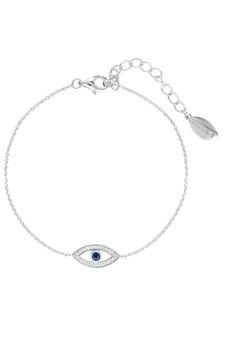 Georgini Rock Star Blue Evil Eye Bracelet Silver IB184W