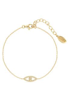 Georgini Rock Star Evil Eye Bracelet Gold IB185G