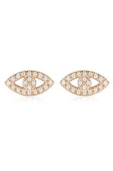 Georgini Rock Star Evil Eye Earrings Rose Gold IE1000RG