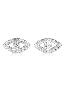 Georgini Rock Star Evil Eye Earrings Silver IE1000W