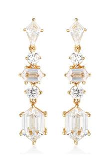 Georgini Rock Star Sword Earrings Gold IE992G