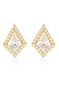 Georgini Rock Star Shield Earrings Gold IE993G