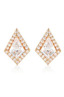 Georgini Rock Star Shield Earrings Rose Gold IE993RG