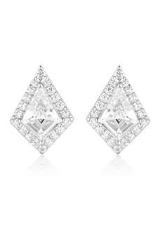 Georgini Rock Star Shield Earrings Silver IE993W