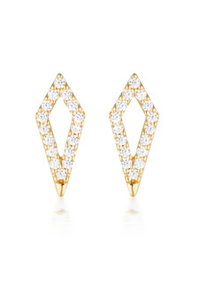 Georgini Rock Star Kite Earrings Gold IE995G