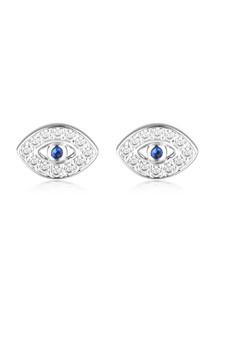 Georgini Rock Star Blue Evil Eye Earrings Silver IE999W