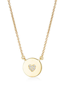 Georgini Rock Star Heart Disc Pendant Gold IP841G