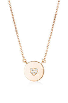 Georgini Rock Star Heart Disc Pendant Rose Gold IP841RG
