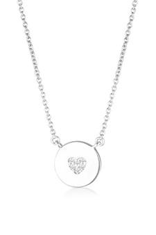 Georgini Rock Star Heart Disc Pendant Silver IP841W