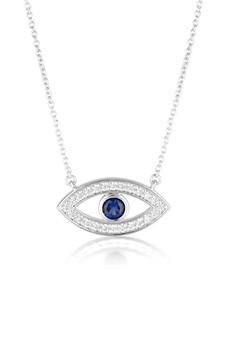 Georgini Rock Star Blue Evil Eye Pendant Silver IP847W