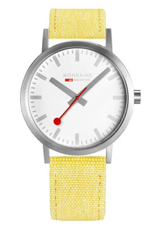 Mondaine Official Swiss Classic 40mm Yellow Watch A660.30360.17SBE