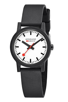 Mondaine Official Swiss Essence Black 32mm Watch MS1.32110.RB