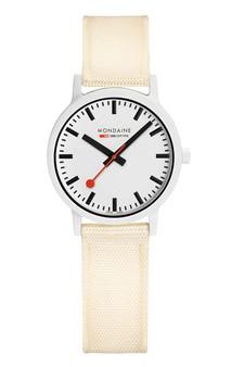 Mondaine Official Swiss Essence White 32mm Watch MS1.32111.LT