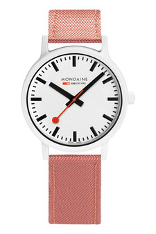 Mondaine Official Swiss Essence White Red 41mm Watch MS1.41111.LP