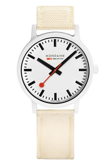Mondaine Official Swiss Essence White 41mm Watch MS1.41111.LT