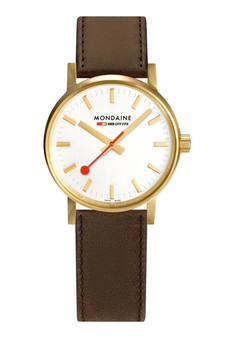 Mondaine Official Swiss EVO2 Gold Steel 30mm Watch MSE.30112.LG