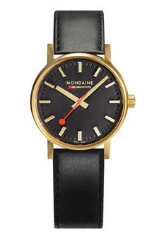 Mondaine Official Swiss EVO2 Gold Steel 30mm Watch MSE.30120.LB
