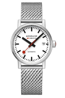 Mondaine Official Swiss EVO2 Automatic Steel 35mm Watch MSE.35610.SM
