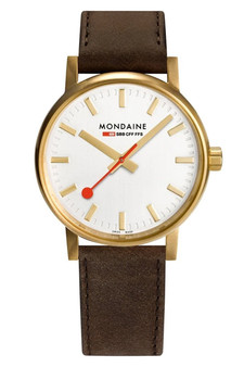 Mondaine Official Swiss EVO2 Gold Steel 40mm Watch MSE.40112.LG