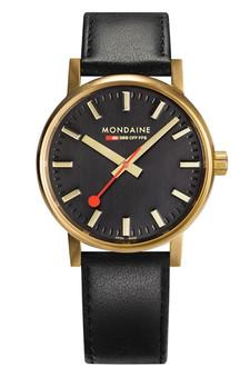 Mondaine Official Swiss EVO2 Gold Steel 40mm Watch MSE.40122.LB