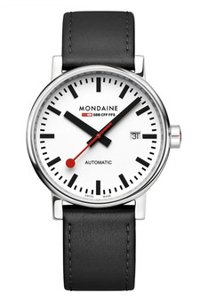 Mondaine Official Swiss EVO2 Automatic Leather 40mm Watch MSE.40610.LB