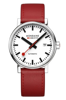 Mondaine Official Swiss EVO2 Automatic Leather 40mm Watch MSE.40610.LC