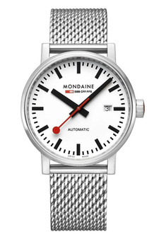 Mondaine Official Swiss EVO2 Automatic Steel 40mm Watch MSE.40610.SM