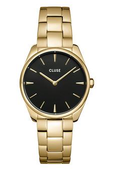 Cluse Feroce Petite Black/Gold Link Watch CW11208