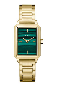Cluse Fluette Green/Gold Link Watch CW10502