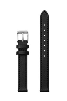 Cluse 12mm Watch Strap Black/Silver Leather CS12001