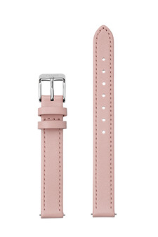 Cluse 12mm Watch Strap Pink/Silver Leather CS12006