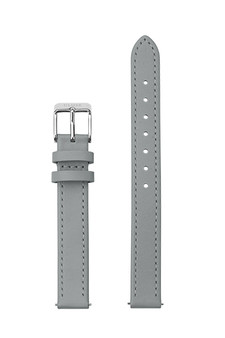 Cluse 12mm Watch Strap Grey/Silver Leather CS12008