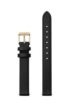 Cluse 12mm Watch Strap Black/Gold Leather CS12002