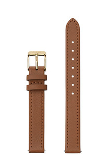 Cluse 12mm Watch Strap Caramel/Gold Leather CS12005