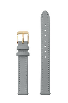 Cluse 12mm Watch Strap Grey/Gold Leather CS12009