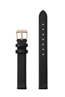 12mm Watch Strap Black/Rose Gold Leather CS12003