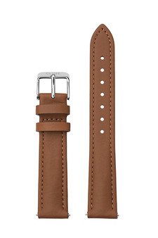 Cluse 16mm Watch Strap Caramel/Silver Leather CS12230