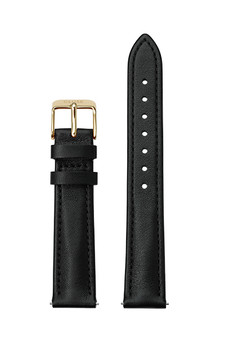 Cluse 16mm Watch Strap Black/Gold Leather CS12229