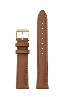 Cluse 16mm Watch Strap Caramel/Gold Leather CS12231