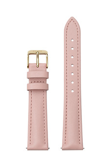 Cluse 16mm Watch Strap Pink/Gold Leather CS12233