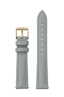 Cluse 16mm Watch Strap Grey/Gold Leather CS12235