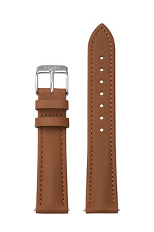 Cluse 18mm Watch Strap Caramel/Silver Leather CS12310