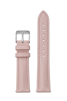 Cluse 18mm Watch Strap Pink/Silver Leather CS12312