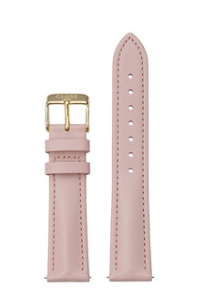 Cluse 18mm Watch Strap Pink/Gold Leather CS12313