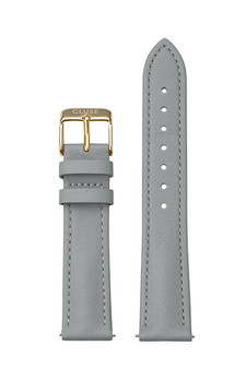 Cluse 18mm Watch Strap Grey/Gold Leather CS12314
